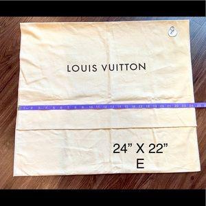 Louis Vuitton large fold over flap dust bag E